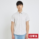 EDWIN 迷彩條紋棕梠襯衫-男-灰卡其