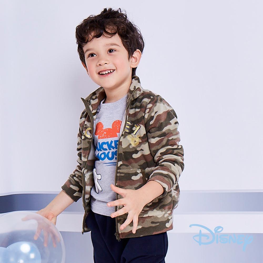 Disney 帥氣米奇立領前口袋外套 墨綠