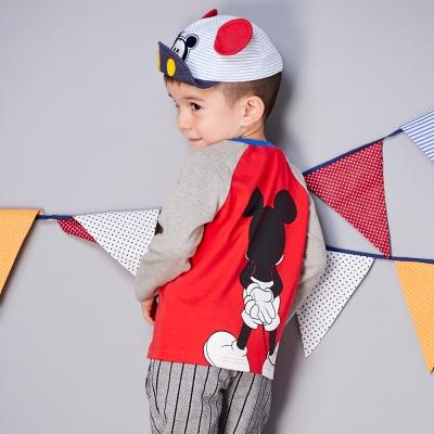 Disney baby 米奇系列星光拉克蘭袖上衣 (共2色)