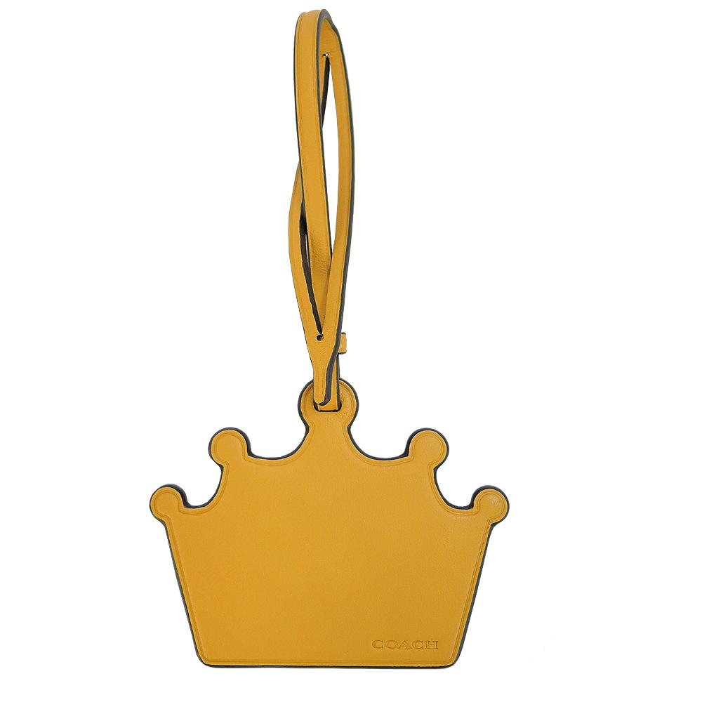 COACH 專櫃款皇冠裝飾皮革裝飾(土黃)COACH