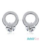 AchiCat 白鋼耳針式耳環 完美國度 (銀色)