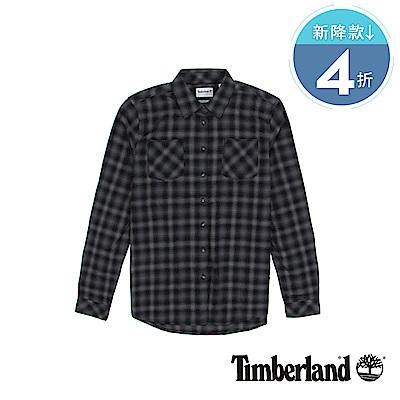 Timberland 女款紗染黑色Forest Rvr法蘭絨襯衫