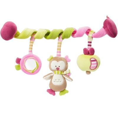 德國NUK絨毛玩具-貓頭鷹活動卷卷裝飾組