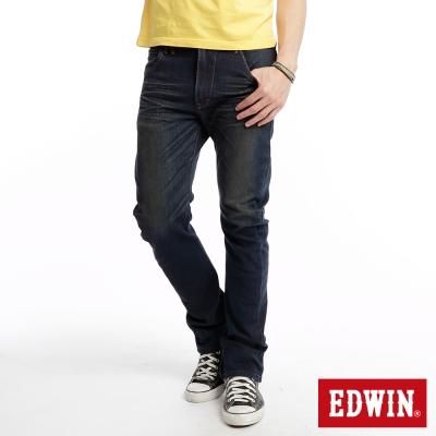【EDWIN】大尺碼 E-F ZERO伸縮中直筒牛仔褲-男款(中古藍)