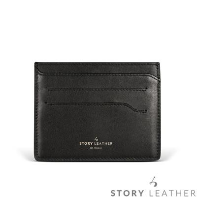 STORYLEATHER 多功能卡套 91155-A10 小牛皮素紋黑+烙印服務