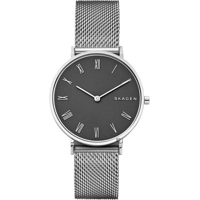 Skagen Signature 北歐羅馬米蘭帶手錶-灰x銀/34mm