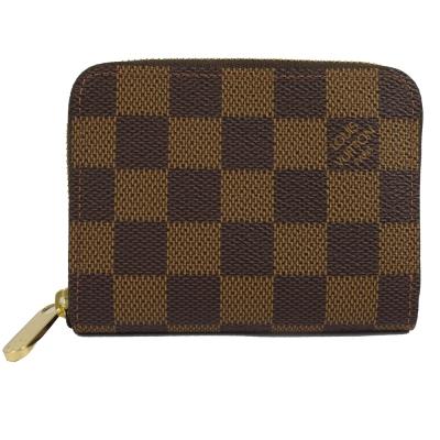 LV N63070 棋盤格紋信用卡拉鍊零錢包