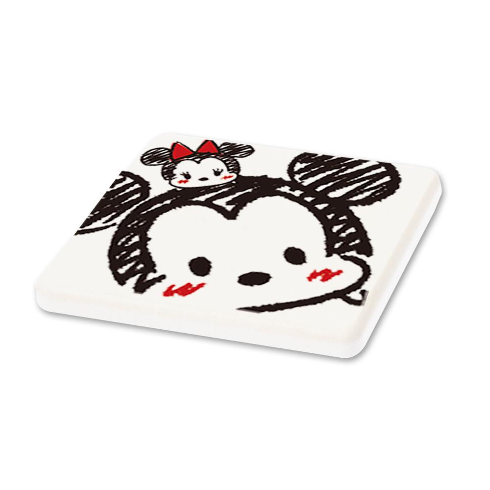 【收納皇后】Tsum Tsum迪士尼珪藻土杯墊/皂盤-米奇米妮