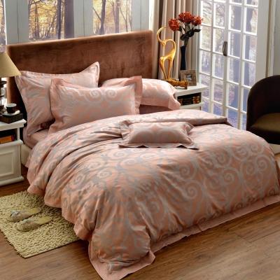 法國-MONTAGUT-皇族高雅-精緻緹花-雙人四件式薄被套床包組
