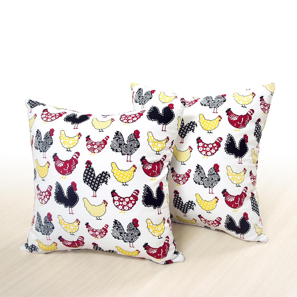 布安於室-大公雞抱枕超值2入(含枕心)