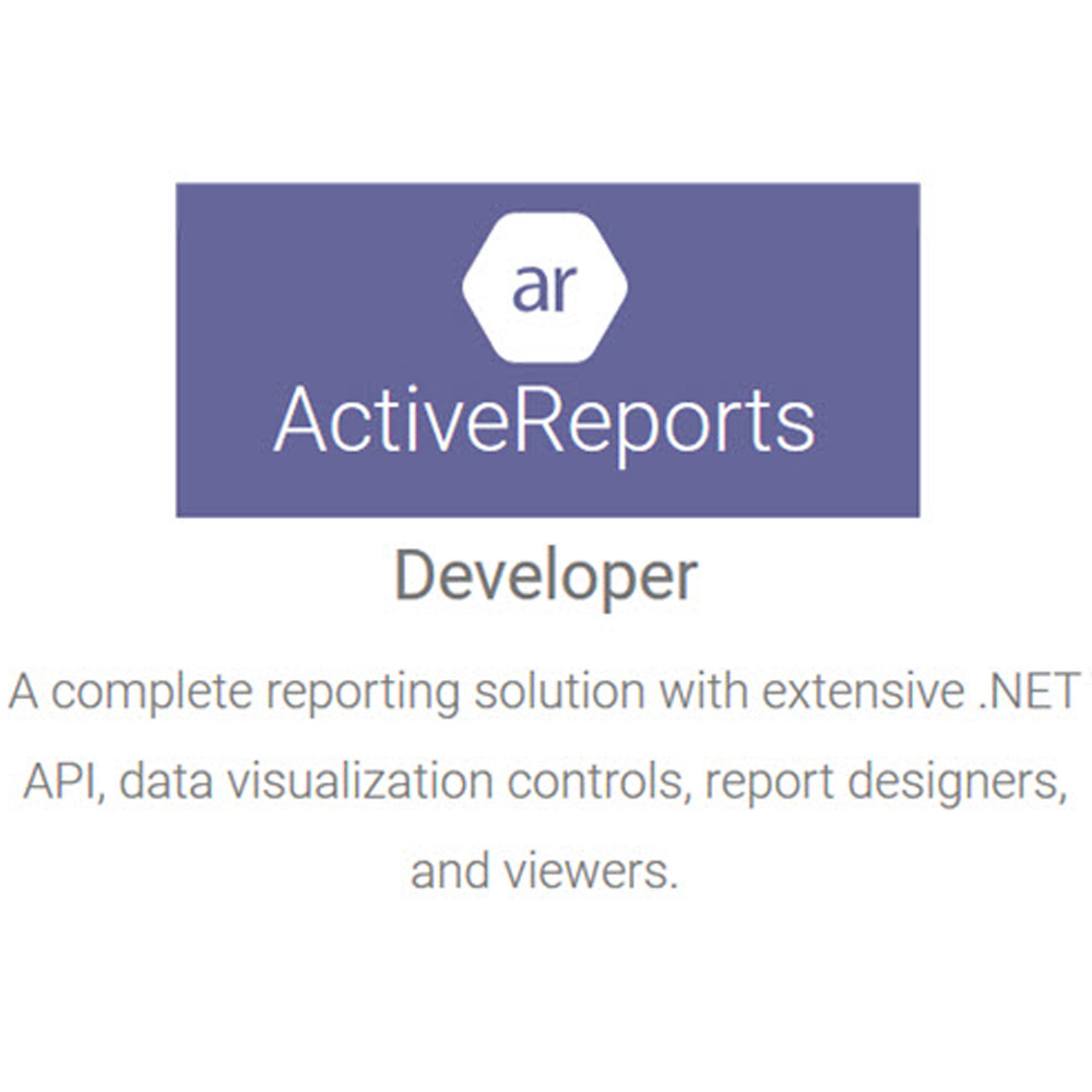 ActiveReports Professional專業版 單機授權 (下載)