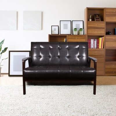 H&D 慕可舒適雙人皮沙發