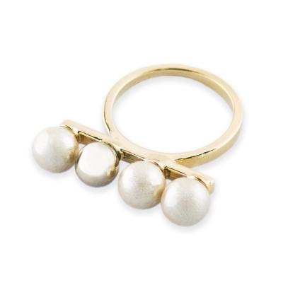 JewCas Ring Series系列棉珍珠戒指(金)_JC2136