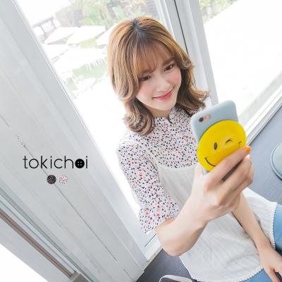 東京著衣-普普風幾何印花襯衫-S-M-共二色