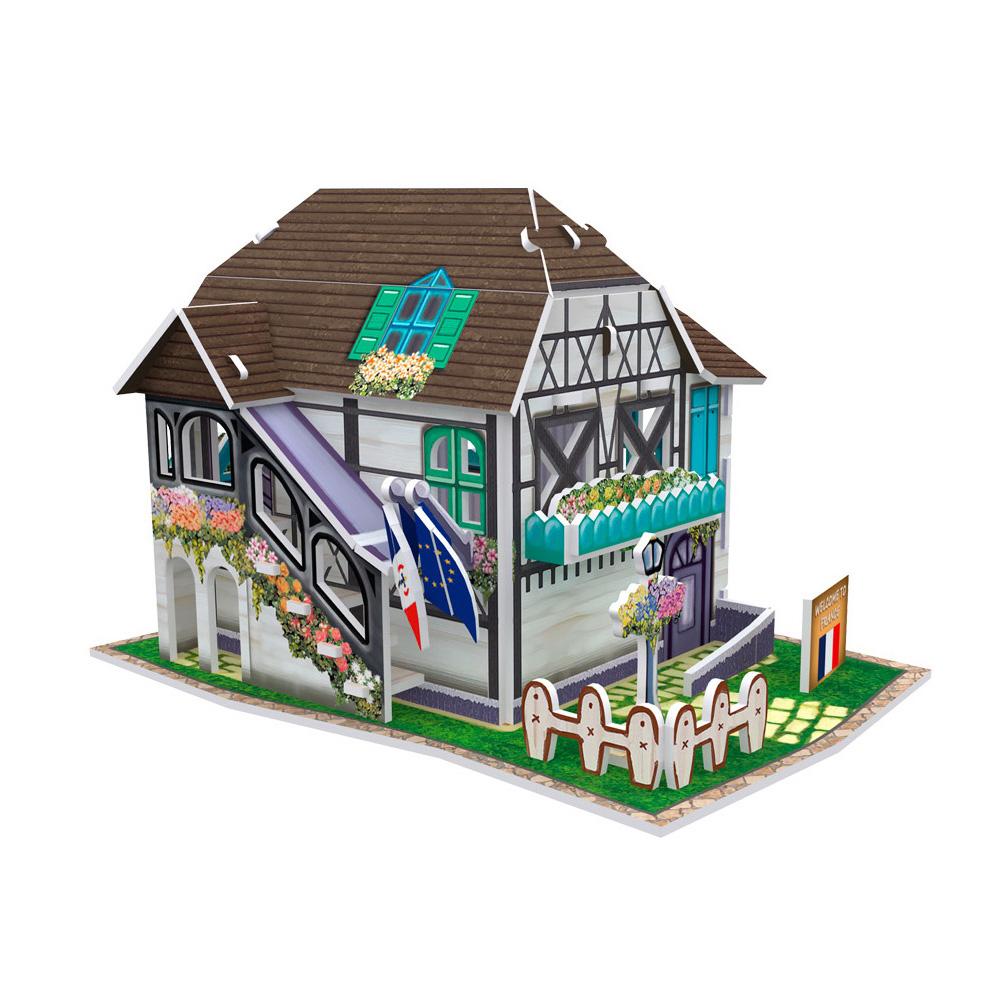 世界之窗 3D立體拼圖 《法國》 花樓 3D World Style