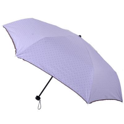 2mm 色膠抗UV 彩點花邊輕量手開傘 (淺紫)