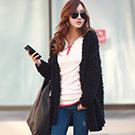 【N.C21】華麗毛毛感長版毛衣外套 (共五色)
