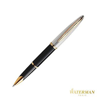 WATERMAN 頂級海洋系列 銀蓋黑桿金夾 鋼珠筆 (法國製)
