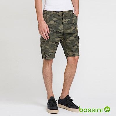 bossini男裝-印花卡其短褲01軍綠