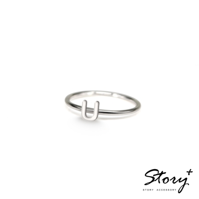 STORY ACCESSORY-字母系列-字母U 純銀戒指