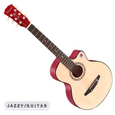 Lanjian系列 38吋,缺角民謠吉他,木吉他,琴袋 背帶 彈片 全配備  原木色