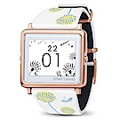 Smart Canvas 白蒲公英 電子紙腕錶 (玫瑰金框)