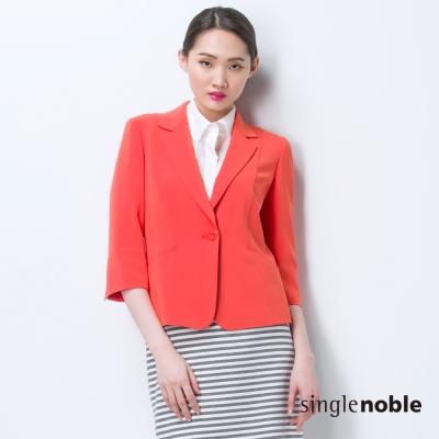 獨身貴族 V領片單扣七分袖西裝外套(2色)