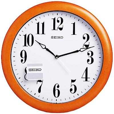 SEIKO 精工 木質外殼 時鐘 掛鐘(QXA674B)