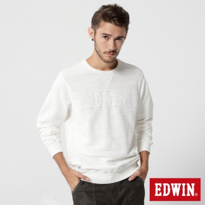 EDWIN 貼布繡花T恤-男-米白