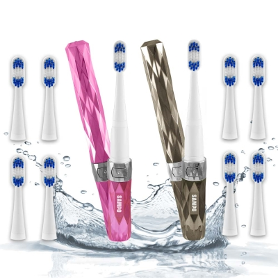SAMPO聲寶 水洗兩段式音波震動牙刷雙機組(共附刷頭10入)