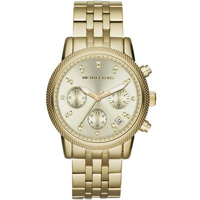 Michael Kors 都會晶燦計時腕錶-金/36mm