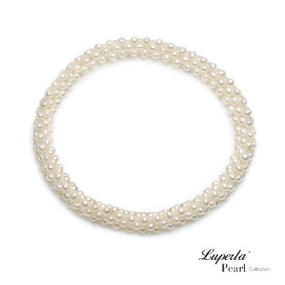 大東山珠寶 天然珍珠手環 浪漫純白歐美古典編織珠寶