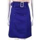 PHILOSOPHY-AF 寶藍色釦飾及膝裙(附腰帶) product thumbnail 1