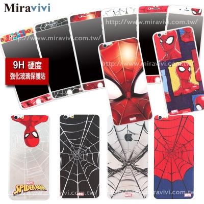 MARVEL蜘蛛人經典版iPhone 6/6s雙面強化玻璃彩繪保護貼