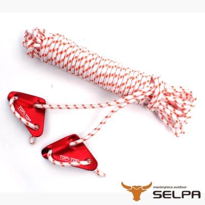 韓國SELPA 6mm反光露營繩10米附調節片/帳篷/露營
