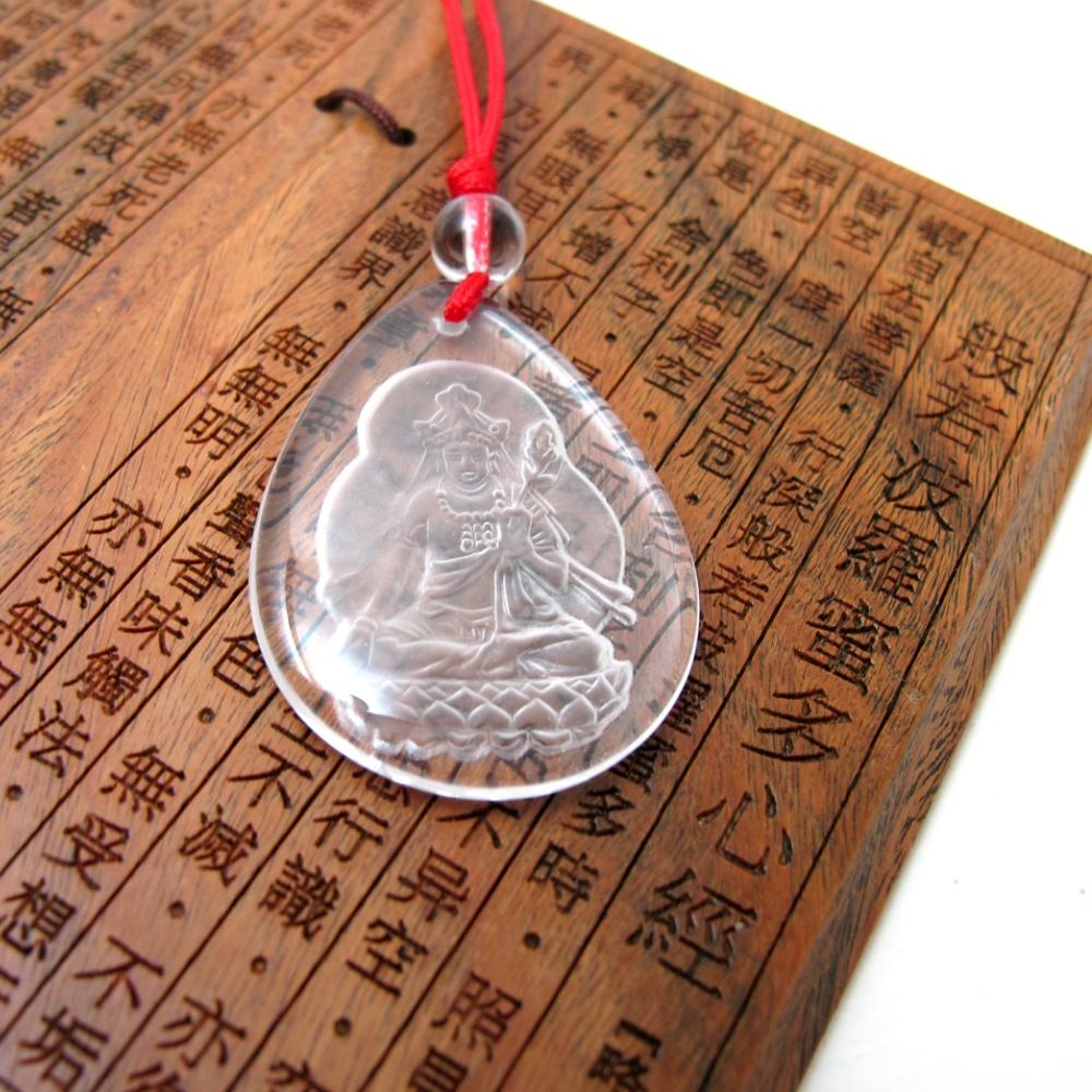 Hera白水晶牛年守護神-虛空藏菩薩項鍊