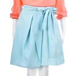 VALENTINO 水藍色蝴蝶結飾短裙