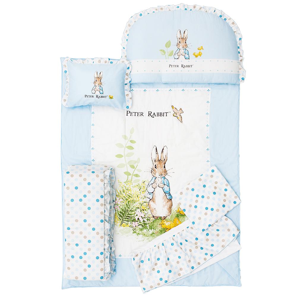 奇哥 花園比得兔六件床組M-藍色