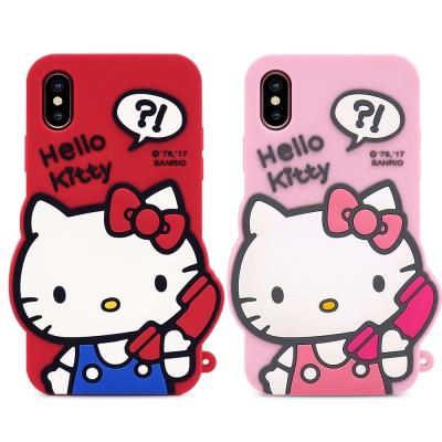 GARMMA Hello Kitty iPhone X 矽膠果凍套-哈囉凱蒂
