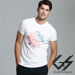 漸層色衝浪俱樂部磨毛水洗T恤(共三色)-GraphicSpace