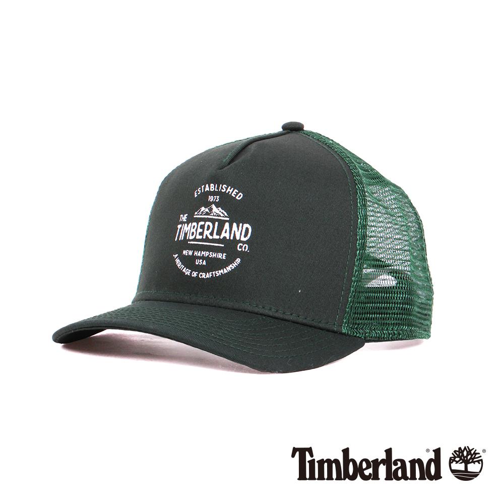 Timberland橄欖色大山品牌印花卡車帽