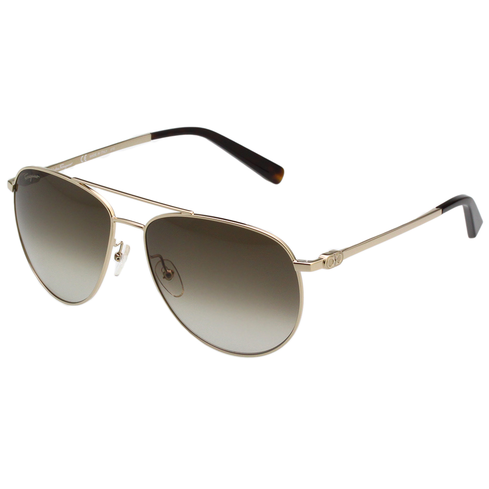 Salvatore Ferragamo  雷朋型 太陽眼鏡 (金色) SF157S