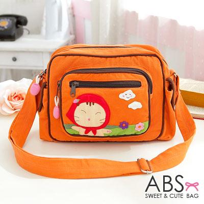ABS貝斯貓 可愛貓咪拼布肩背包/斜背包88-186 - 蜜柑橘