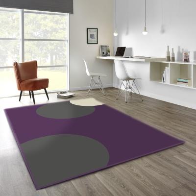 范登伯格 - 幾何 進口地毯 - 紫金 (160 x 230cm)