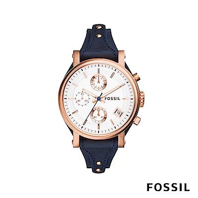 FOSSIL ORIGINAL BOYFRIEND 三眼女錶 約38mm ES3838