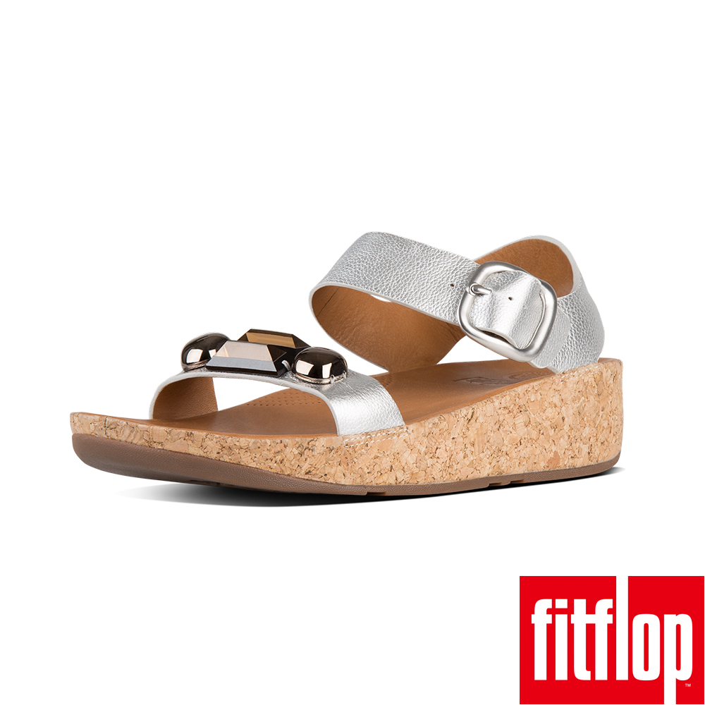 FitFlop JEWELEY BACK STRAP SANDAL-銀色