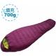 100MOUNTAIN 頂級鵝絨睡袋 700G 茄紫 product thumbnail 1