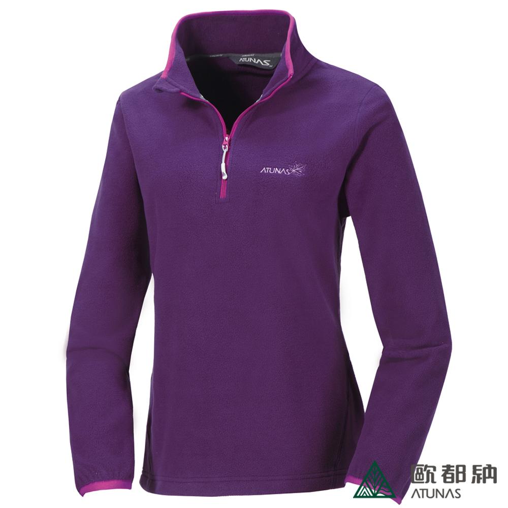 歐都納 A-P1240W 厚Fleece長袖保暖POLO衫(女款)