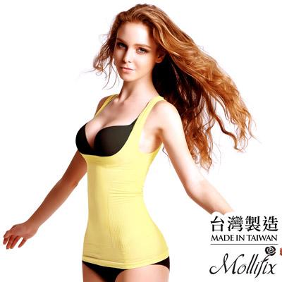 【MOLLIFIX】沁涼體感完美腰線輕塑衣 (檸檬黃)