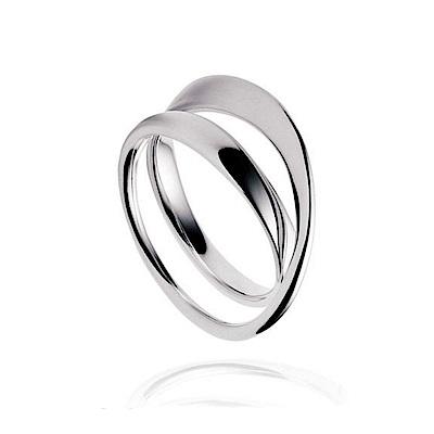 GEORG JENSEN-MOBIUS純銀雙環戒指 369